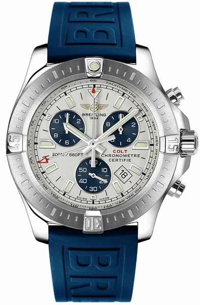 Breitling Colt Chronograph Silver Dial Steel Men's Watch A7338811/G790-158S