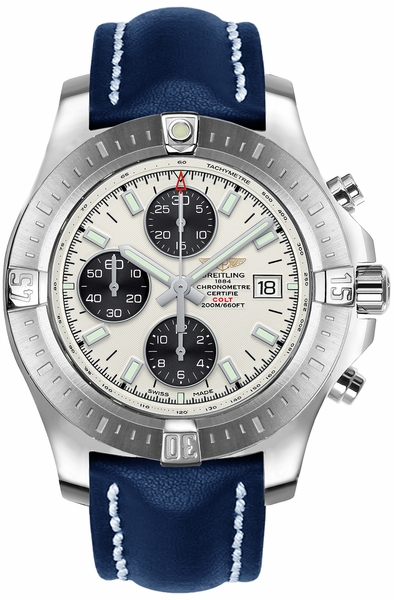 Breitling Colt Chronograph Automatic Silver & Black Dial Men's Watch A1338811/G804-112X