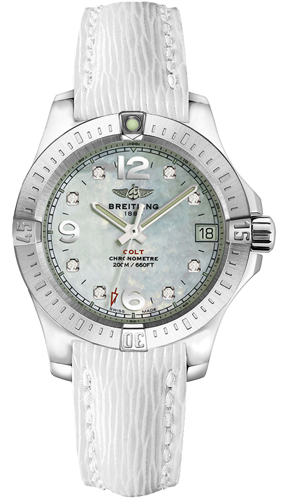 Breitling Colt Lady A7738811 A769-261X Womens 33mm Quartz Diamond ... 3a527168fe4