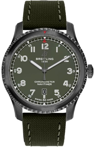 Breitling Aviator Green Dial Curtiss Warhawk Men's Watch M173152A1L1X2
