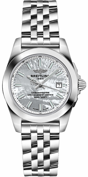 Breitling Galactic 29 Pearl White Dial & Steel Women's Watch W72348121A1A1