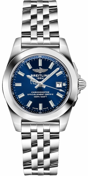 Breitling Galactic 29 Blue Dial Ladies Watch W72348121C1A1
