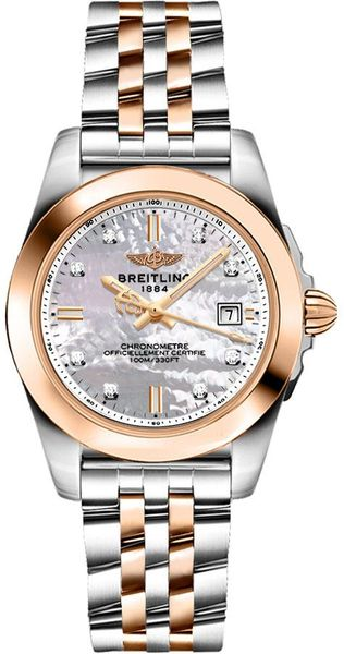 Breitling Galactic 32 Sleek Edition Pearl & Diamond Dial Women's Watch C7133012/A803-792C