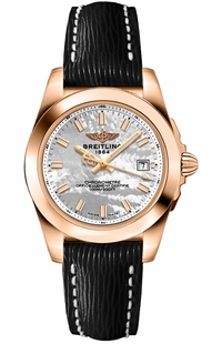 Breitling Galactic 32 Solid 18k Rose Gold Women's Watch H7133012/A802-208X