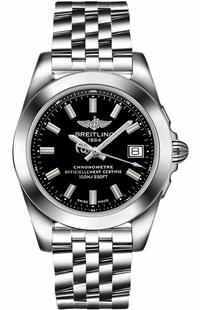 Breitling Galactic 36 Black Dial Women's Watch W7433012/BE08-376A