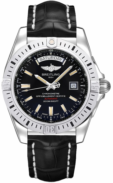 Breitling Galactic 44 Black Dial Men's Watch A45320B9/BD42-744P