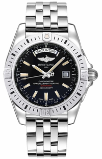 Breitling Galactic 44 Day Date Black Dial Men's Watch A45320B9/BD42-375A