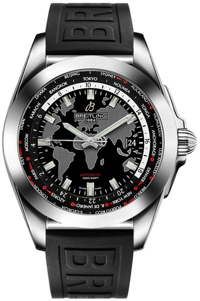 Breitling Galactic Unitime 44mm Steel Men's Watch WB3510U4/BD94-152S