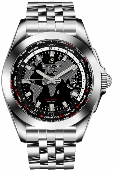 Breitling Galactic Unitime Automatic Men's Luxury Watch WB3510U4/BD94-375A