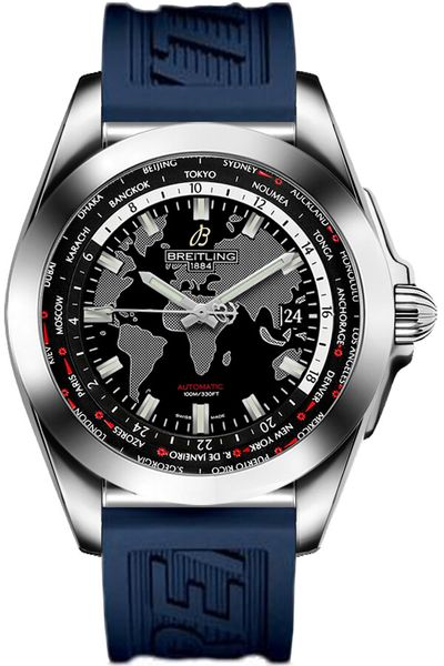 Breitling Galactic Unitime Steel Men's Watch WB3510U4/BD94-121S
