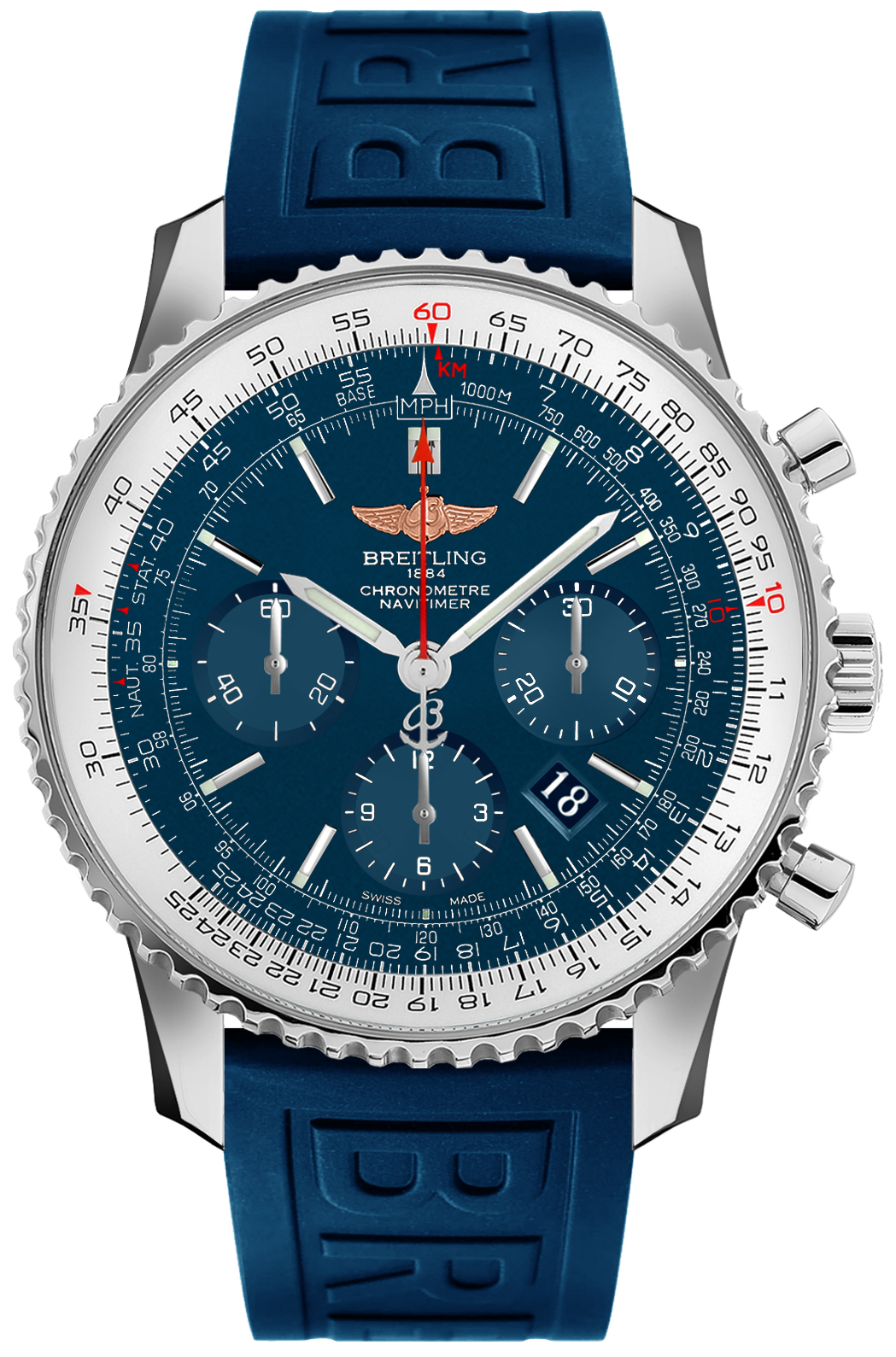Breitling Navitimer 01 46 Blue Dial Automatic Men's Watch AB012721/C889-160S