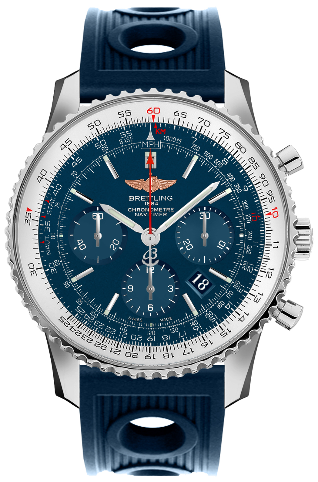 Breitling Navitimer 01 46 Blue Dial Men's Watch AB012721/C889-205S