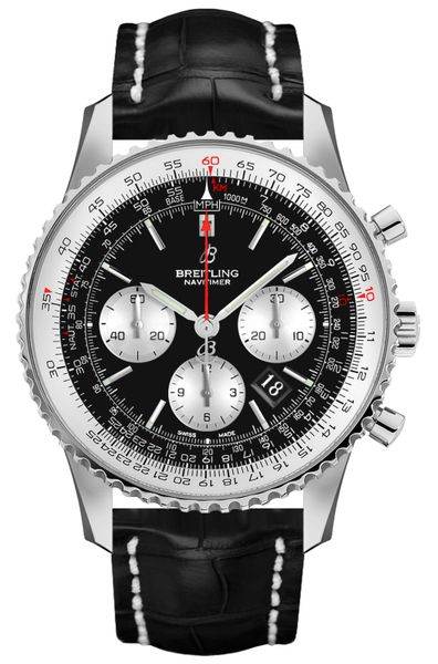 Breitling Navitimer 1 B01 Chronograph 43 Black Dial Men's Watch AB0121211B1P1