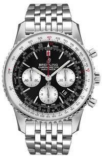 Breitling Navitimer 1 B01 Chronograph 46 Black Dial Men's Watch AB0127211B1A1