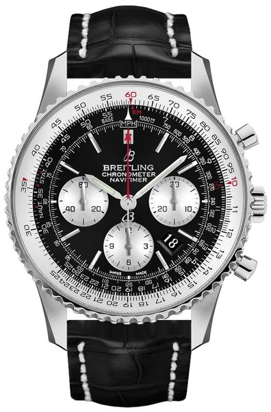 Breitling Navitimer 1 Chronograph Black Dial Men's Watch AB0127211B1P2