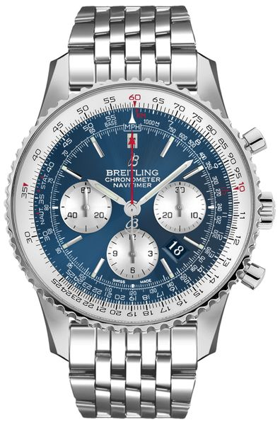 Breitling Navitimer 1 B01 Chronograph 46 Blue Dial Men's Watch AB0127211C1A1