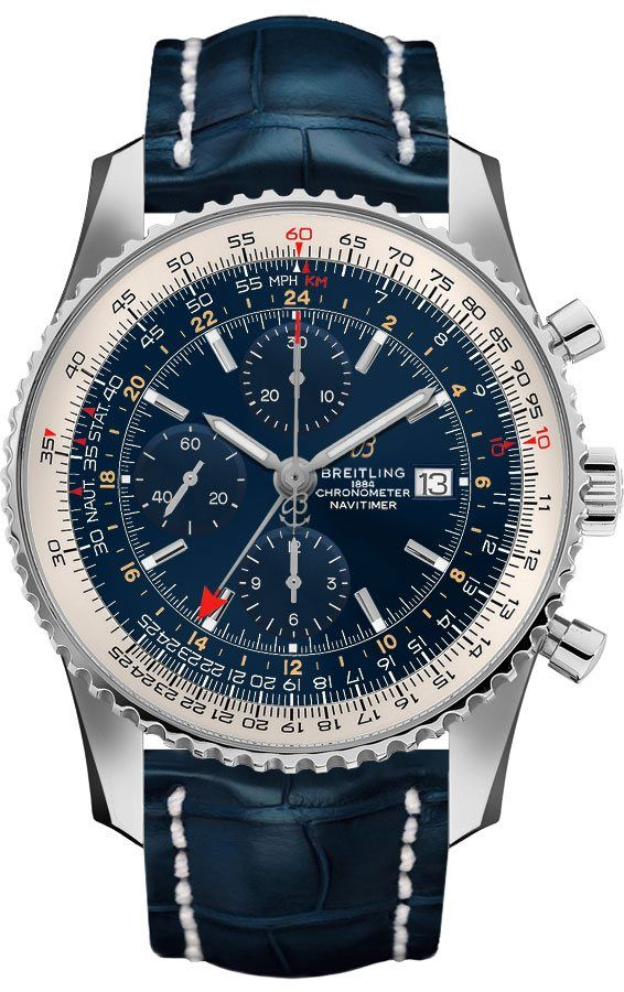 bf2fd1963 Breitling Navitimer 1 Chronograph GMT 46 Men's Watch A24322121C2P1 - image  0 ...