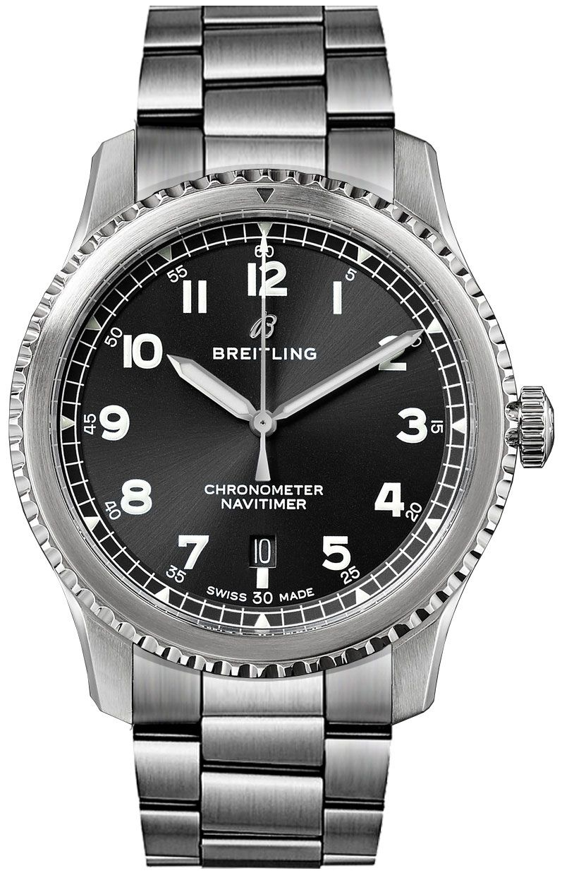 A17314101b1a1 breitling navitimer 8 automatic 41mm black dial men 39 s watch for Breitling automatic