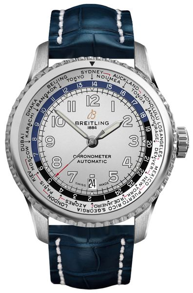 Breitling Aviator 8 Unitime 43mm Silver Dial Men's Watch AB3521U01G1P2