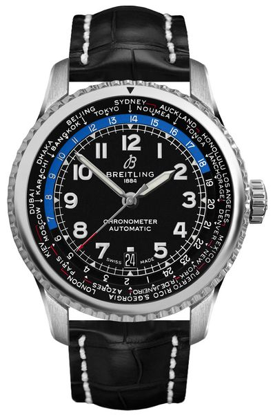 Breitling Aviator 8 B35 Automatic Unitime 43 Men's Watch AB3521U41B1P1