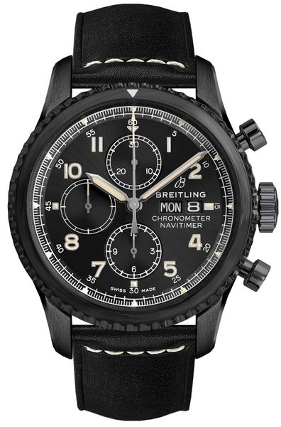 Breitling Navitimer 8 Chronograph 43 Black Steel Men's Watch M13314101B1X1