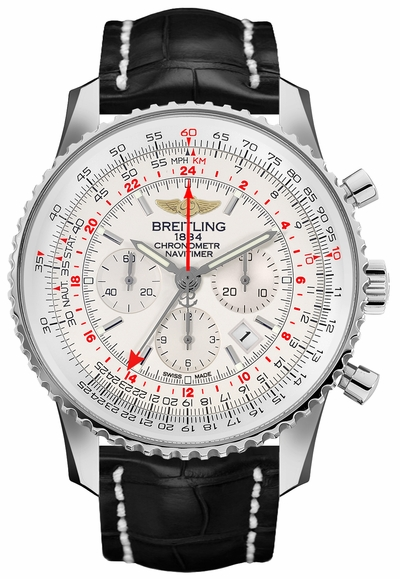 Breitling Navitimer GMT Mercury Silver Dial Men's Watch AB044121/G783-760P
