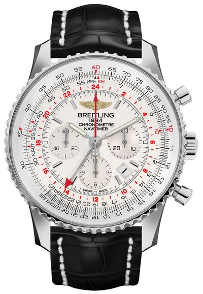 Breitling Navitimer GMT Mercury Silver Dial Men's Watch AB044121/G783-761P