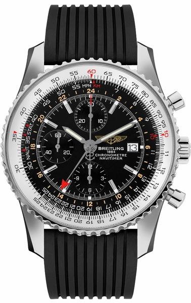 Breitling Navitimer 1 Chronograph GMT 46 Steel Black Dial Men's Watch A2432212/B726-252S