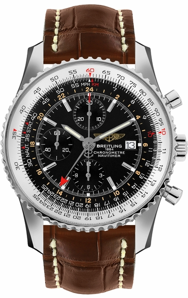 Breitling Navitimer 1 Black Dial GMT Men's Watch A2432212/B726-756P