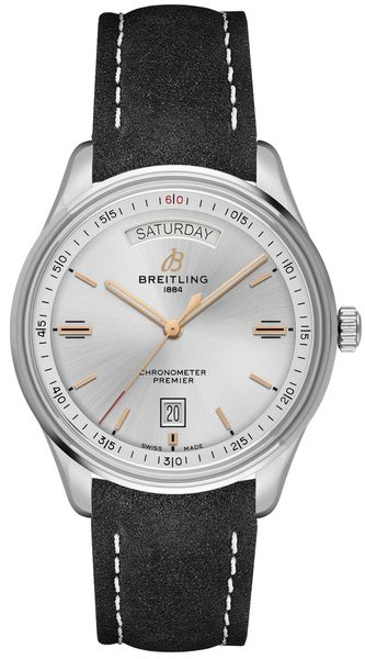 Breitling Premier Automatic Day & Date 40 Silver Dial Men's Watch A45340211G1X4