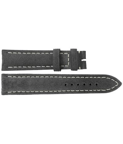 Breitling 22mm Anthracite Nubuck Leather Strap 498X