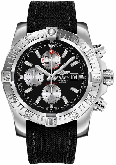 Breitling Super Avenger II Black Dial Men's Watch A1337111/BC29-104W