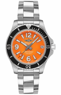 Breitling Superocean 36 Orange Dial Women's Watch A17316D71O1A1