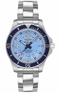 Breitling Superocean 36 Women's Blue Watch A17316D81C1A1