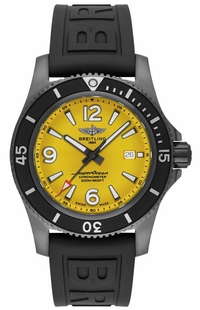 Breitling Superocean Automatic Yellow Dial Men's Watch M17368D71I1S2