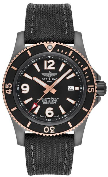 Breitling Superocean Black Steel & Rose Gold Men's Watch U17368221B1W1