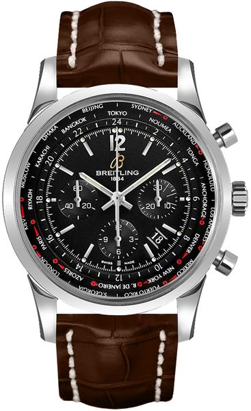 Breitling Transocean Unitime Pilot Men's Luxury Watch AB0510U6/BC26-756P