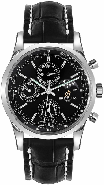 Breitling Transocean Chronograph 1461 Black Dial Men's Watch A1931012/BB68-743P