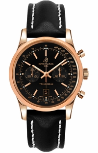 Breitling Transocean Chronograph 38 Gold Luxury Men's Watch R4131012/BC07-428X