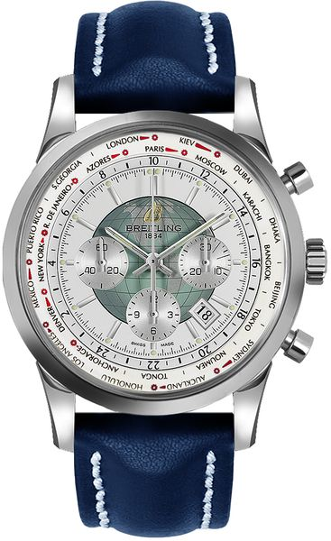 Breitling Transocean Chronograph Unitime Men's Automatic Luxury Watch AB0510U0/A732-102X