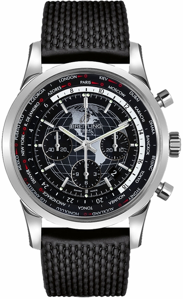 Breitling Transocean Chronograph Unitime Men's Luxury Watch AB0510U4/BE84-256S