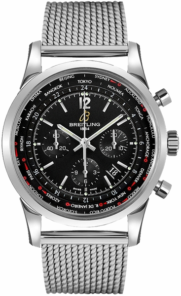Breitling Transocean Unitime Pilot Men's Luxury Watch AB0510U6/BC26-159A