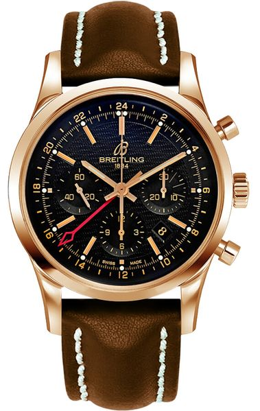 Breitling Transocean GMT Black Dial Men's Watch RB045112/BC68-438X