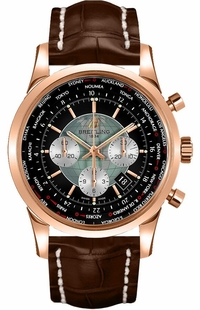 Breitling Transocean Unitime Rose Gold Men's Watch RB0510U4/BB63-756P