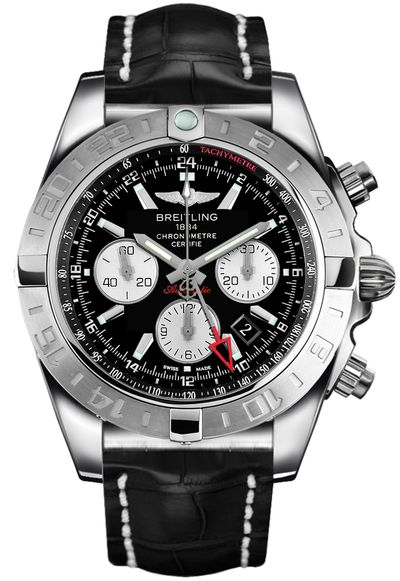 Breitling Chronomat 44 GMT Black Dial Men's Watch AB042011/BB56-743P