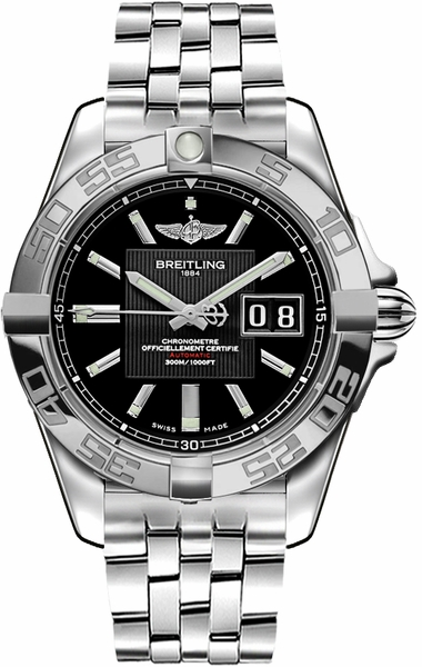 Breitling Galactic 41 Black Dial Men's Watch A49350L2/BA07-366A