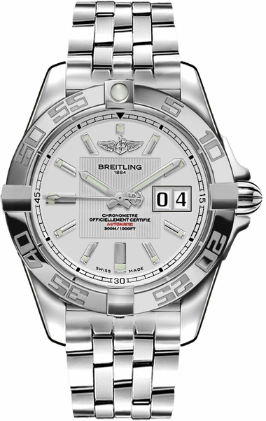 Breitling Galactic 41 Silver Dial Men's Watch A49350L2/G699-366A