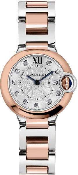 Cartier Ballon Bleu Diamond Dial Women's Luxury Watch W3BB0005