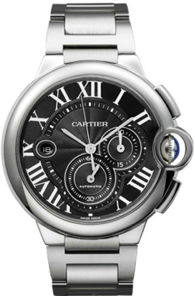 Cartier Ballon Bleu Black Dial Chronograph Men's Watch W6920025