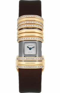 Cartier Declaration Yellow Gold & Titanium Diamond Women's Watch WT000150